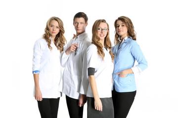Doktor medyczny i piękne pielęgniarki