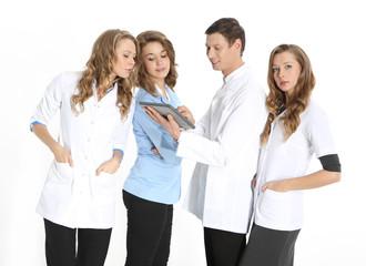 Szczęśliwi lekarze w szpitalu