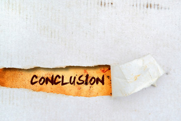 Conclusion title on old paper