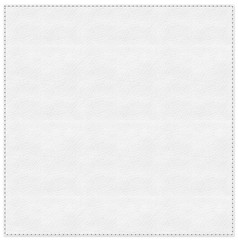 Stitched white leather background