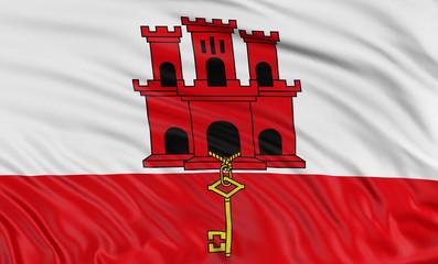 3D Gibraltar Flag