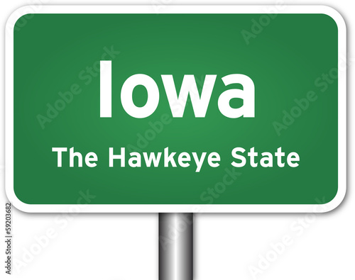 Iowa Sign Poster