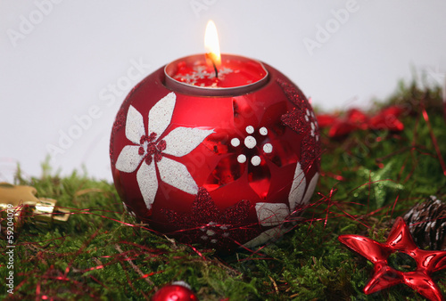 Tischdekoration im Advent