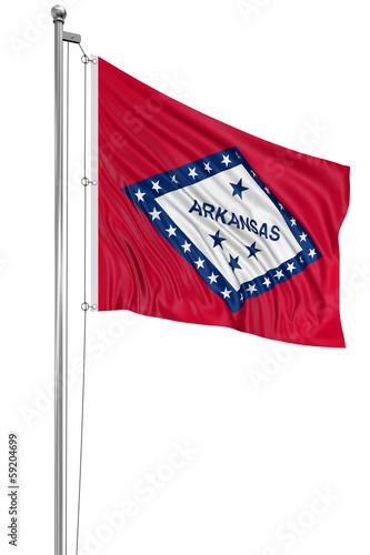 3D Arkansas Flag