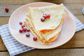 delicate fragrant crepes to Maslenica
