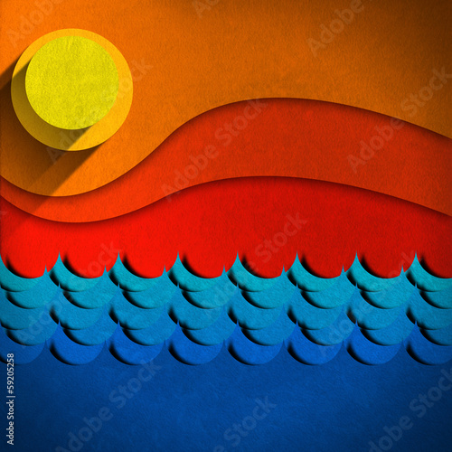 Seascape Abstract Background
