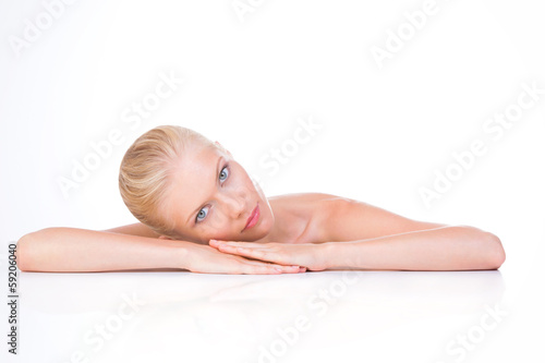 woman in rest position