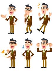 ジャケットを着た眼鏡の男性