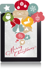 Merry Christmas, Social Network, Tablet
