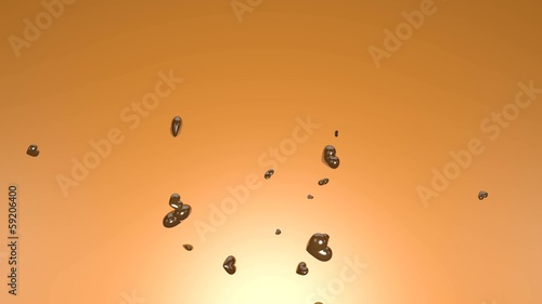 Spring of chocolate hearts - 3D rendered