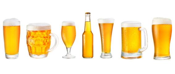 set of various beer