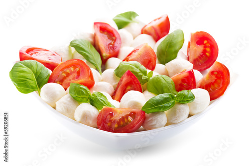bowl of caprese salad