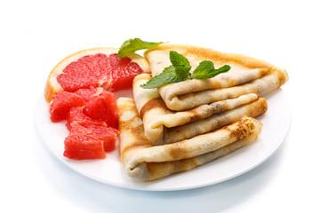 pancakes with grapefruit