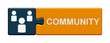 Puzzle-Button blau orange: Community