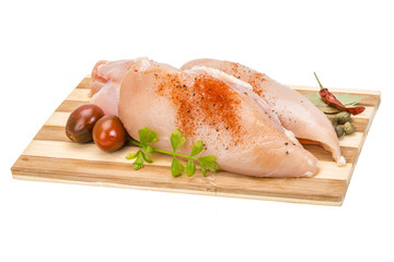 Raw chicken fillet