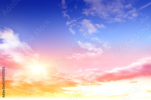 Colorful sky and sunrise