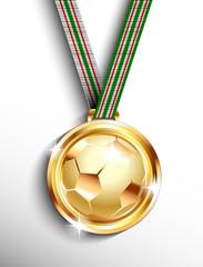 Gold soccer medal