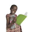 canvas print picture - Afrikanisches Maedchen mit Schulbuch