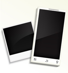 Mobile phone and photo frame