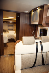 Living Quarters in Luxury Motorhome