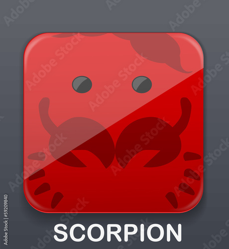 Scorpion zodiac icon