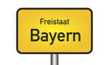 Bayern Bavaria Sign