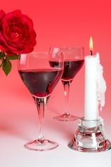 Weinglas mit Rose 6