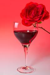Weinglas mit Rose 11
