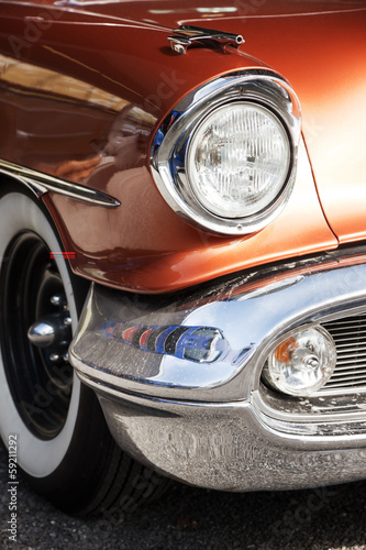 Vintage American Car Front Detail © FotoKachna