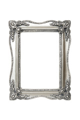 Old antique silver picture frames with clipping path.