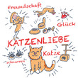 Strichmännchen, Katze und Katzenliebe