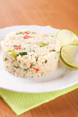 Salad with couscous, parsley, tomatoes and cucumber