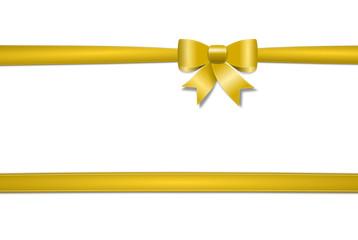 Schleife gold mit Schleifenband