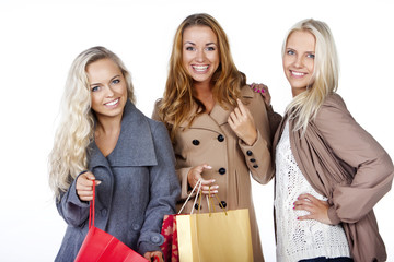 friends are happy after shopping