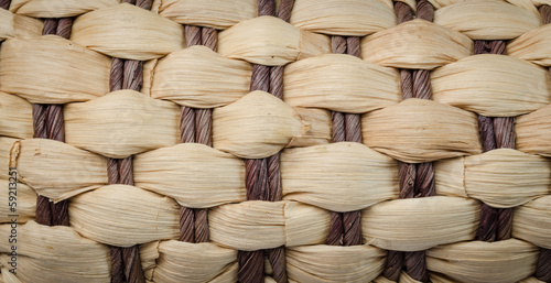 Water hyacinth weave texture background