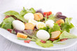 salad with egg, crouton and bacon
