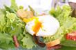 salad with egg, crouton and bacon
