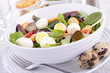 vegetable salad with egg