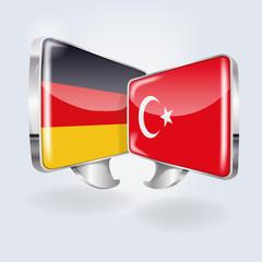 Sprechblasen in deutsch und türkisch