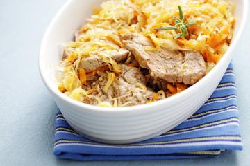 porkneck with sauerkraut