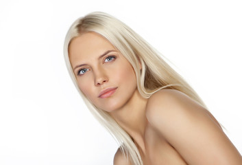 beautiful portrait of blond woman
