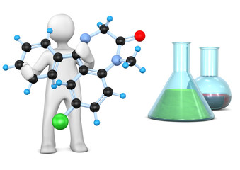Manikin Molecule Test Tube