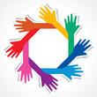 Creative hand icon - vector illustration
