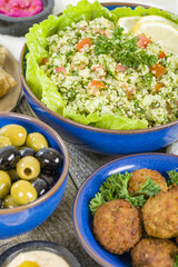 Mezze - Selection of Middle Eastern dishes.