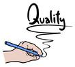 Write quality message