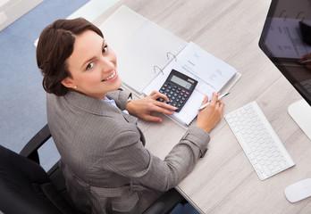 Happy Female Accountant