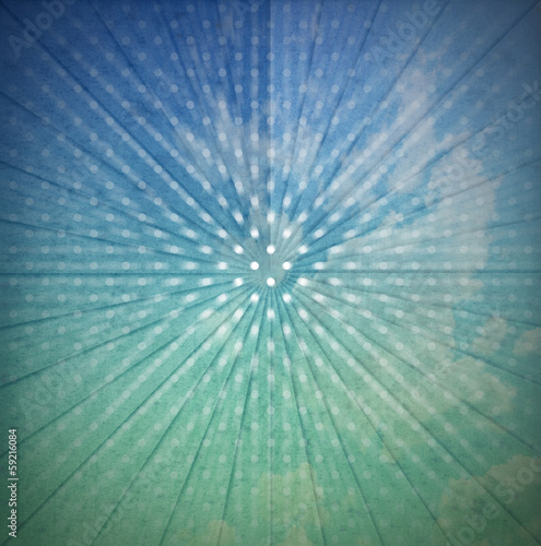 Vintage Sunbeams Abstract Background