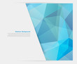 Vector abstract background. Polygon blue and card geometric - 59216251