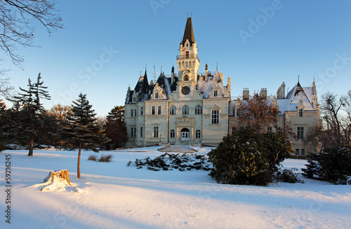 Winter park with castle - Slovakia