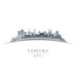 Samara Russia city skyline silhouette white background